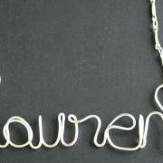 Custom Wire Name Necklace