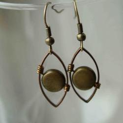 Wire Wrapped Earrings Copper