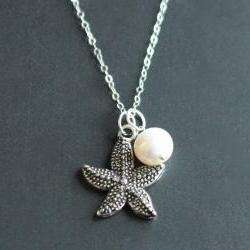Starfish Pearl Sterling Silver Necklace